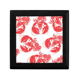 lobster print gift box