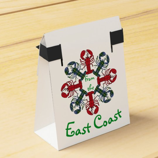 Lobster Snowflake N.S. Tartan Christmas treat bag Party Favour Box