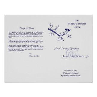 Lockamy Wedding Program Flyer