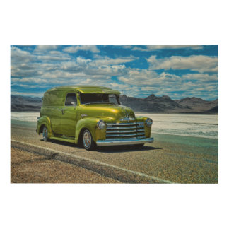 Loco Lowrider at the Salt flats Wood Canvases