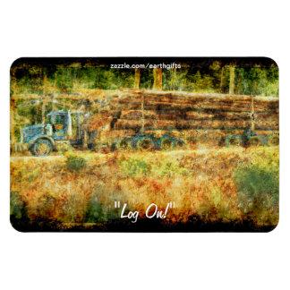 Logging Truck on Trans-Canada Highway Art Magnet
