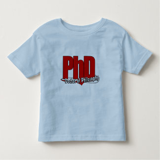 LOGO BIG RED PhD DOCTOR OF PHILOSOPHY Tshirt