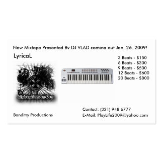logo.... copy, 13520, LyricaL, Contact: (321) 9... Pack Of Standard Business Cards