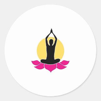 Logo for yoga or fitness center round sticker