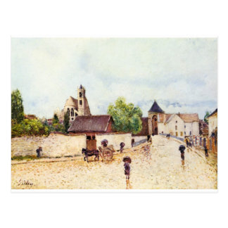 Loing at Moret in the rain by Alfred Sisley Postcard