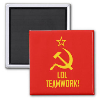 LOL-Commie Square Magnet