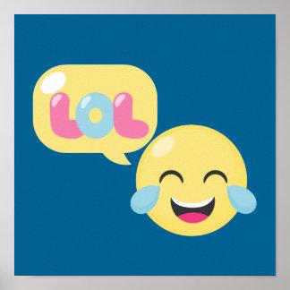 LOL Emoji Bubble Poster