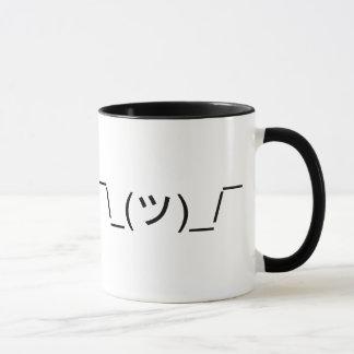 LOL IDK Shrug Emoticon Mug