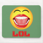 LOL Yellow Smiley Face Fun Mousepad Mousemat