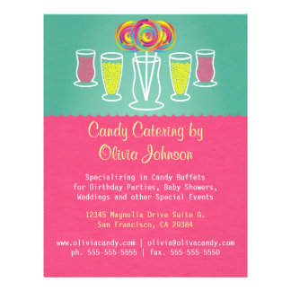 Lollipop Style Candy Catering Business Flyer