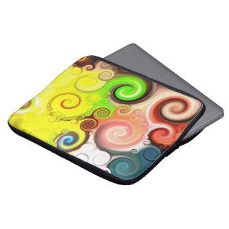 lolly swirl' - 13 tariff neoprene laptop sleeve