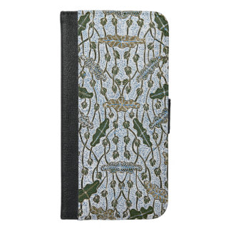 Lompongan Teratai Lotus Batik iPhone 6/6s Plus Wallet Case
