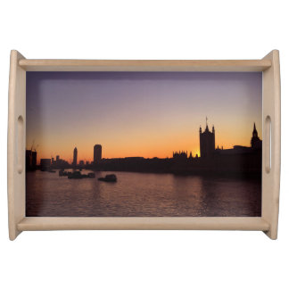 London at Sunset Serving Tray