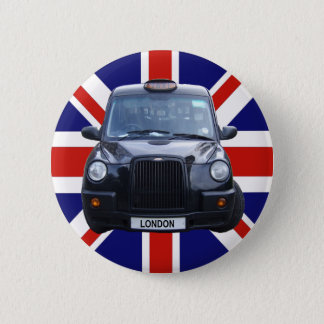 London Black Taxi Cab 6 Cm Round Badge