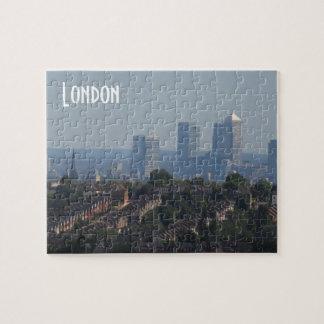 London Cityscape - Canary Wharf photo Jigsaw Puzzle