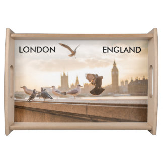 London, England serving tray