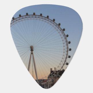 London Eye at Sunset Guitar Pick