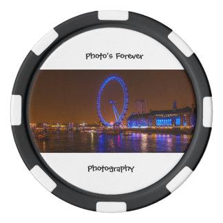 London Eye Poker Chip