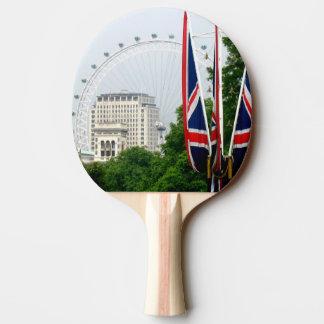 London Eye / Union Jack Ping Pong Paddle
