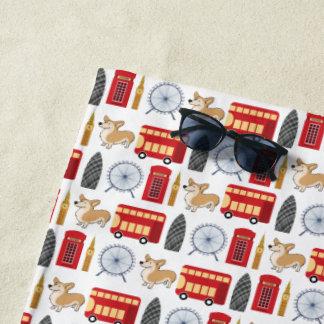 London Icon Collage Beach Towel