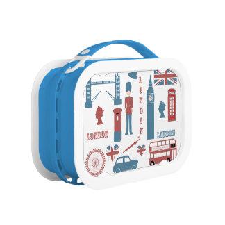 London Icons Retro Love Souvenir Lunch Box