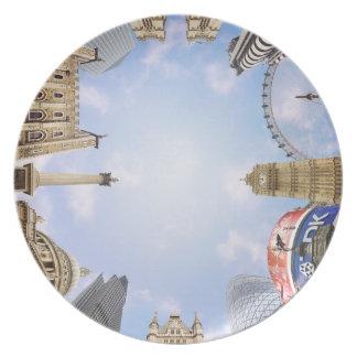 London Landmarks Dinner Plate