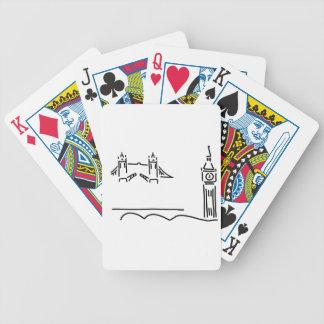 London more tower bridge big ben bicycle playing cards