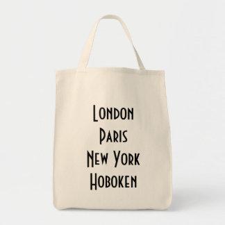 London Paris New York Hoboken Tote Bag