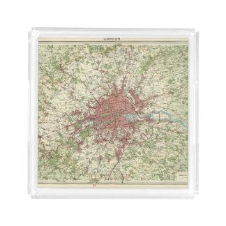 London Region Map Acrylic Tray