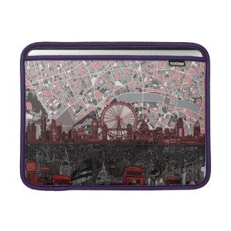london skyline abstract sleeve for MacBook air