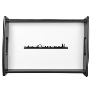 London Skyline Themed Serving Tray