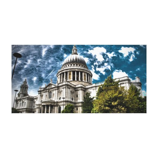 London St. Paul's Cathedral - Beautiful Colours Canvas Print