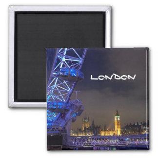 London UK Night Landscape London Eye View Magnet