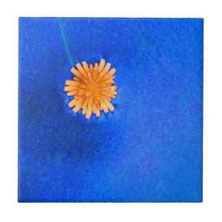 Lone Orange Flower Ceramic Tiles
