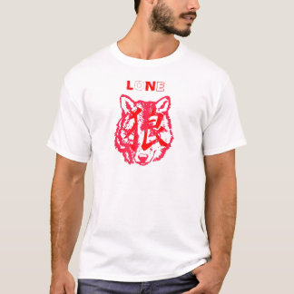 LONE red and white T-Shirt