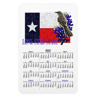 LONE STAR STATE 2012 Calendar Magnet Rectangle Magnet