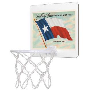 Lone Star State Texas TX Vintage Travel Souvenir Mini Basketball Hoop
