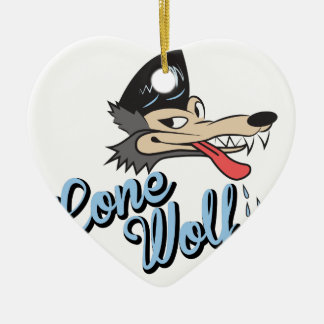 Lone Wolf Christmas Ornament