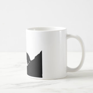 Lone Wolf Standing on a Hill Basic White Mug
