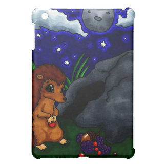 Lonely Hedgehog at night Cover For The iPad Mini