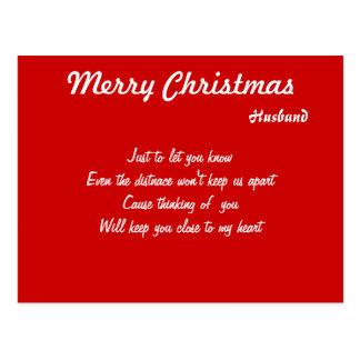Long distance husband christmas postcards