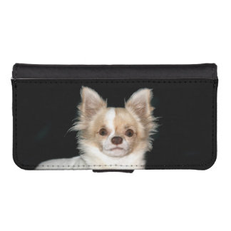 Long haired chihuahua face iPhone SE/5/5s wallet case