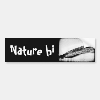 long hard cold lonely car bumper sticker
