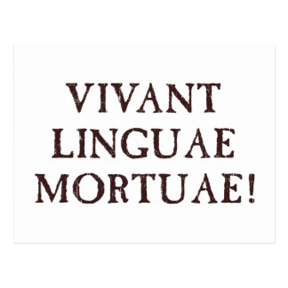 Long Live Dead Languages - Latin Postcard