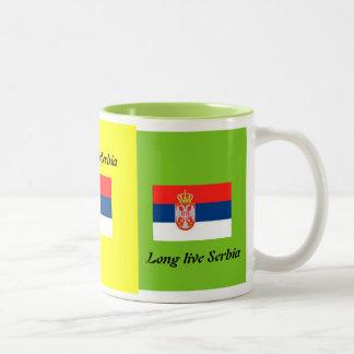 Long live Serbia Two-Tone Mug