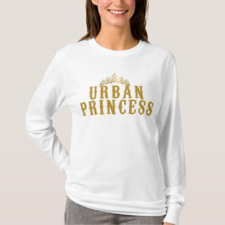 Long mango with feminine pointed hood, Urban T-Shirt