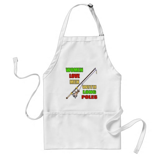 Long Poles Fishing T-shirts and Gifts Apron