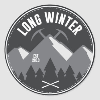 Long Winter Logo Round Sticker