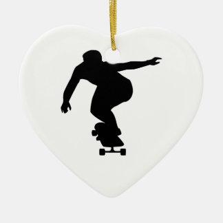 Longboard Ceramic Heart Decoration