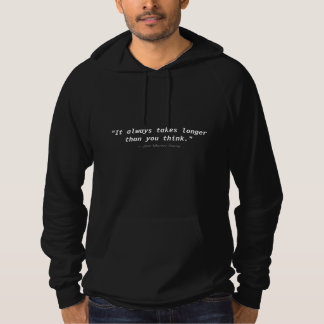 Longer Than You Think:  Pullover Hooded Sweatshirt